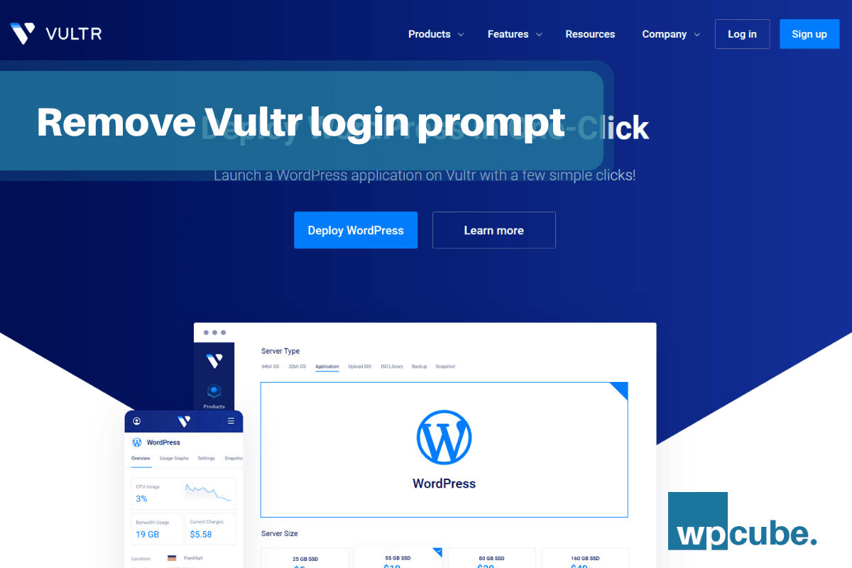 How to remove login prompt (wp-admin) on Vultr server in two simple steps?